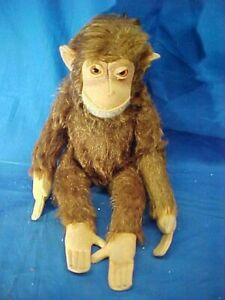 "Vintage SCHUCO 10"" Stuffed Toy MONKEY Figure Made in Germany"