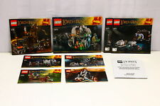 LEGO Lord of the Rings Instructions ONLY 9469 9470 9471 9472 9473 9476 79000 (U-