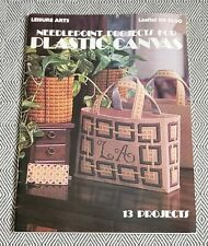 Leisure Arts NEEDLEPOINT PROJECTS FOR PLASTIC CANVAS Leaflet #138 13 Projects