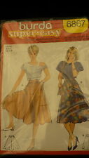 Burda Sewing pattern 6867 super easy jupe rock skirt multi language size 34 - 44