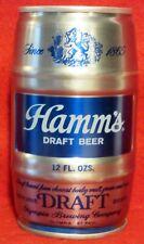 HAMM'S DRAFT KEG SHAPED PULL TAB BEER CAN ~ BOTTOM OPENED