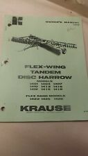 Kuhn Krause Owners Manual For 1400 Series Disc Harrow