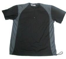 Wilson Golf Outerwear Sport Men S S/S Black/Gray 1/2 Zip Polo Windshirt