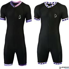 Deckra Men s Cycling Skinsuit Short Sleeve Padded Biking One Piece Top Short  Set c142c2869