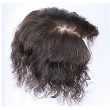 Curly Wave Mono Silk Base 100% Human Hair Topper Hairpiece Toupees Top Piece