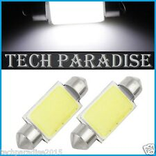 2x Ampoule Navette 36mm C3W C5W C7W C10W LED COB 12 Chips Blanc White Festoon