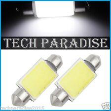 2x Ampoule Navette 36mm C3W C5W C7W C10W LED COB 12 Chips Blanc White Festoon