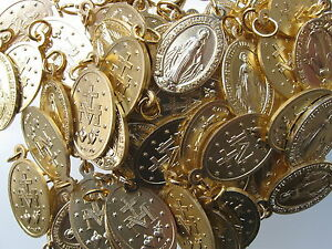 Wundertätige-Wunderbare-Medaille 2,2 cm 10 Stück Medaillen Alu goldfarben