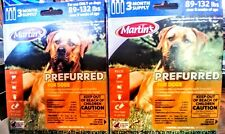 New Lot of 2 Martins Perfurred 3 month X2 Flea And Tick Xtra Large Dog 89-132 lB