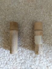 Vintage 2 Needles Cases Wooden Sewing Machine Box/Lid Wood