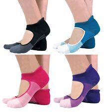 2 Pairs Ladies Invisible Non Slip Pilates Socks with Heel Flap