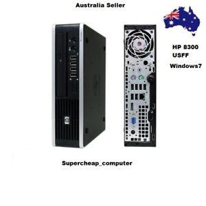 [C] Barebone HP Compaq Elite 8300 PC USDT USFF Desktop Dual DP AC Adapter NO DVD