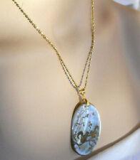 Farbe Natürliche Abalone Muschelperlen Anhänger /& Halskette für Frauen Schmuck