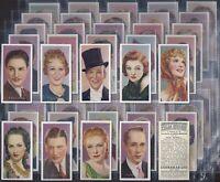 CARRERAS-FULL SET- FILM STARS (BY DESMOND 50 CARDS) - EXC