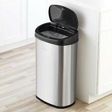 Kitchen Motion Sensor Trash Can Touchless StainlessSteel Garbage Bin Wastebasket