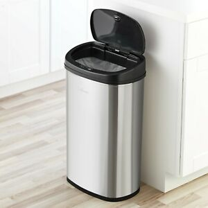 13 Gallon Electric Trash Can Touchless Automatic Wastebasket Sensor Home Office