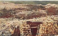 POSTCARD MILITARY WWI DAILY MAIL SERIES 13  # 103 CAPTURED GERMAN TRENCHES