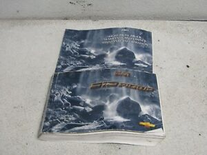 01 CHEVROLET S10  CHEVY TRUCK  OWNERS MANUAL