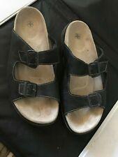 EUC Men's Black Leather Buckle Strap DR MARTENS Sandals Size 13