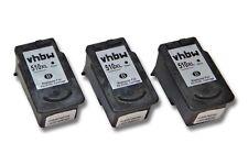 3x CARTUCHO TINTA negro para CANON PG-510 Pixma MP495