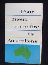 Rare Ancienne brochure Pour mieux connaitre L' Australie 1963