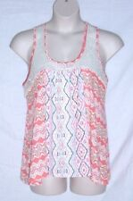 NO BOUNDARIES – BABY DOLL TOP – SOUTHWEST COLOR PRINT – JR SIZE XXL (19) - NEW