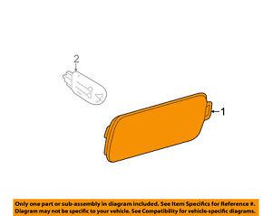 AUDI OEM 12-15 A7 Quattro-Side Marker Light Lamp Left 4G8945071