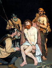 Jesus Mocked by the Soldiers A1+ by Edouard Manet High Quality Canvas Art Print