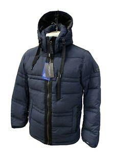 NWT Marc New York Men's Jacket Navy Blue Duck Down Hooded Puffer Parka Size XXL