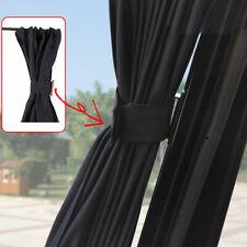2pcs Car Side Windows Sun Shade Curtains Visor Shield Cover Accessories Black