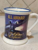 "The Polar Express ""ALL ABOARD"" 3D Raised Ceramic Hot Chocolate/Coffee Mug New!!!"