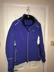 NEW: KJUS Women's Ski Jacket (38 Med) Blue / white + back detailing (with Tags)