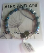 Alex and Ani Gleaming Moment Bluebell Bangle Bracelet BOX New W Tags & CARD