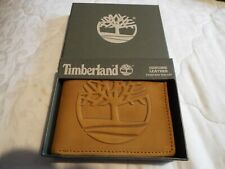 RARE NEW Tan Timberland leather Wallet with logo in box RRP $55