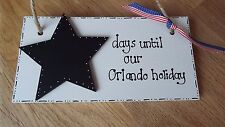 Countdown to Orlando Florida Holiday sign plaque best friend gift USA sign