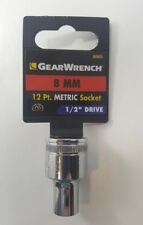 """GearWrench 8 MM Metric 12 Point Socket 1/2"""" Drive 80805"""