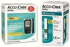 Accu Chek Active Meter Glucometer with Free Strips - 10 Strips (Multicolor)