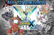 Legit Unlocked Pokemon X - All Megastones, All 721 Shiny, and More.