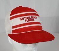VTG Daytona Beach Florida Super Stripe Mesh Snapback Trucker Hat Spring Break