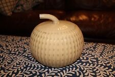 Pottery Barn Mercury Milk Glass Pumpkin Fall Thanksgiving Halloween Ghostly!!