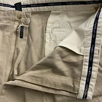 "Polo Ralph Lauren 42 x 6"" Khaki 100% Cotton Pleated Chino Shorts"