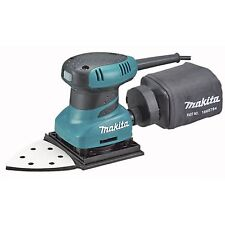 Finishing Sander Powerful Makita 200W with 6 abrasive sheets and Dust Bag