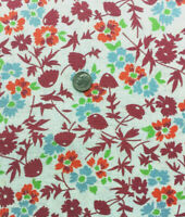 """Vintage Partial Feed Sack White Floral on Lovely Green app 20/"""" x 18"""