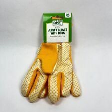 Jersey Gardening Gloves Rubber Dots for Gripping Women Medium Bright Yellow New