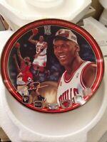 "Michael Jordan ""1996 NBA CHAMPIONSHIP"" BULLS Plate Bradford Exchange UpperDeck"