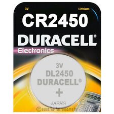 1x CR2450 DURACELL Electronics Lithium Knopfzelle DL2450 3Volt