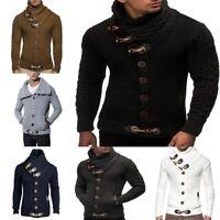 Fall Men' Turtleneck Cardigan Sweater Coat Slim Fit Warm Knitting Outwear Winter