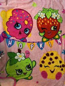 "Shopkins Blanket Super Soft Plush Throw Fleece Blanket 40"" X 46"" Pink"