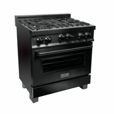 Zline 30 in Professional 40 cu ft 4 Gas on Gas Range in Black Stainless (Rgb-30)