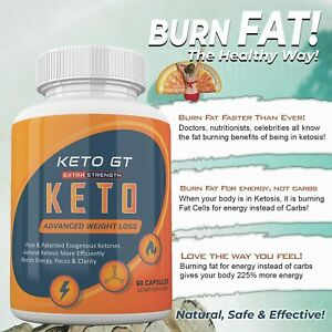 Keto GT Weight Loss Extra Strength - 60 Capsules (1 month supply)